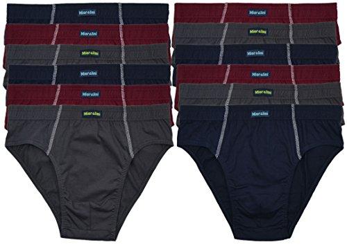 12 oder 6 weiche 100% Baumwolle Herren Sport Slips in schönen Farbkombinationen und Muster mit und ohne Eingriff 12er 6er Spar Pack Slip Herrenslip Jungen Man 12 x Farbset 02
