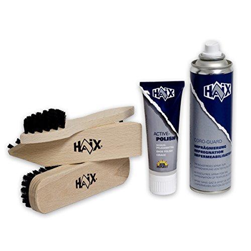 HAIX Schuh-Pflege Set Schuhcreme, Bürsten, Spray