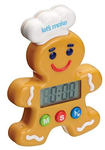Kitchen Craft Let's Make Digitaler Küchentimer Lebkuchenmann, 100 Minuten