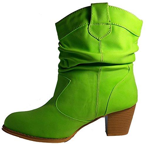 Bottes élégants, chaussures femme, Stiletto talons hauts, modèle 11094104003574, vert, marron, gris et noir, différents modèles et tailles. Vert modèle A.