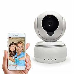 Wlan ip kamera schwenkbar,Gegensprechfunktion,Bewegungserkennung Intelligent Wlan Überwachungskamera,Pir-Sensor,mit Baby Monitor 720p HD Audio & Nightvision IP Camera für IOS Android