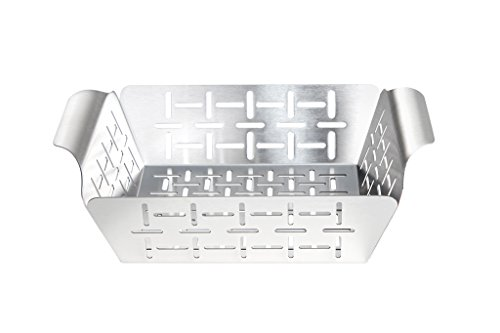 Allgrill® Edelstahl-Grillkorb, 19 x 24 x 5,5 cm