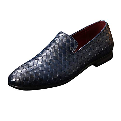 NnuoeN☀ Mens Slip On Fannullone Puntale Pelle Piazza Oxford Formale Business Casual Shoes Comodo Abito per Gli Uomini