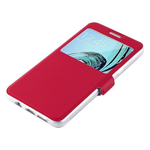 Etui iPhone 6 6s Etui à fenêtre | JammyLizard | Etui flip case avec fenêtre d'ouverture pour iPhone 6 6s, Bleu nuit ROUGE