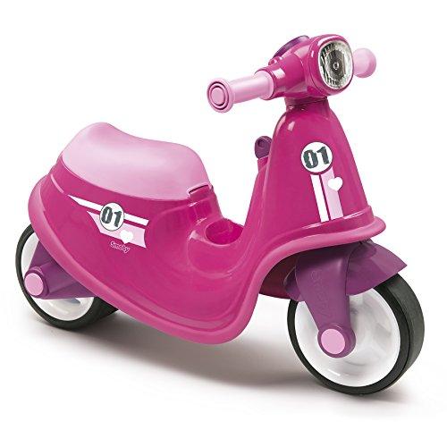 Smoby - 721002 - Porteur Enfant Scooter avec Roues Silencieuses - Rose
