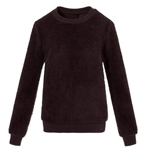 Dragon868 felpe senza cappuccio manica lunga maglietta basic solido maglione peloso camicetta pullover taglie forti 5xl