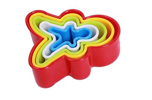 wuudi Fondant Cookie Cutter 6pcs Plastique Cookie Moule de Cuisine d'outil de Cuisson, comme sur l'image, Round
