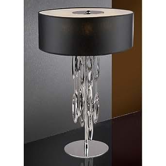 Lampe de table 3 lumières domo-couleur de l'abat-jour :  noir
