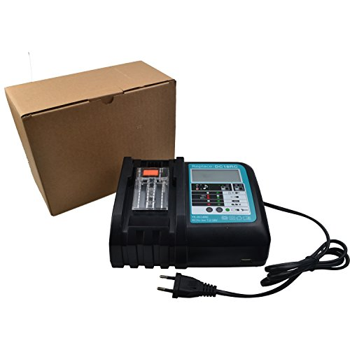 puerto USB para 14V hasta 18V MAK DC18RC DC18RA BL1860 BL1850 BL1840 BL1830 bl1820 BL1815 BL1430 BL1450 Herramienta el/éctrica Cargador de bater/ía de litio NUEVO Cargador de repuesto con pantalla LCD
