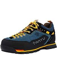 Willsky Zapatos para Caminar para Hombres, Zapatos para Caminar Zapatillas Bajas de Ayuda de Gamuza