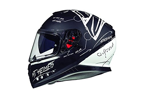 CASCO MT THUNDER 3 SV ON BOARD NEGRO Y BLANCO S