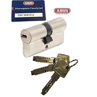 ABUS EC660 Longueur de double cylindre (a/b) 40/45mm (c=85mm) avec 3 clés, avec Carte de Sécurité