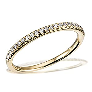 Goldmaid Damen-Ring Memoire Trauring 585 Gelbgold 23 Brillanten 0,16 ct. SI/H