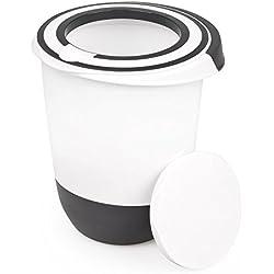 Unbekannt Viva Bol mélangeur avec Couvercle 1,5 l et Couvercle Protection Anti-éclaboussures Blanc Noir