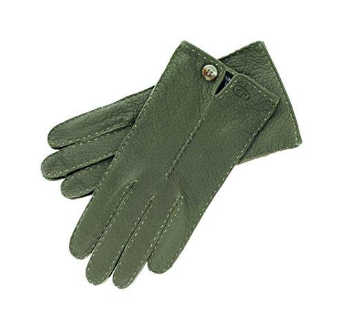 Roeckl Damen Handschuhe Klassiker mit Knopf, Gr. 7.5, Grün (khaki 885)