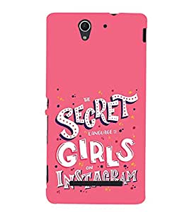 Fiobs Girl Quote Secrat Designer Back Case Cover For Sony Xperia C3 Dual :: Sony Xperia C3 Dual D2502