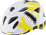 ALPINA Kinder Radhelm Ximo Flash Fahrradhelm, White-Black-Yellow, 47-51 cm