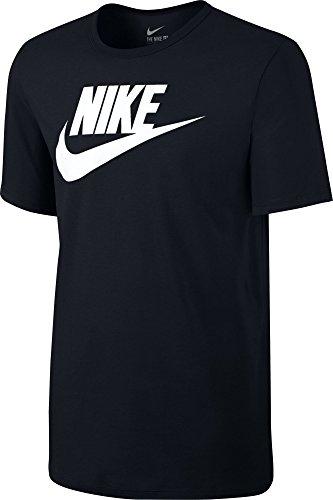 Nike 696707-015 T-Shirt Homme, Noir/Noir/Blanc, FR : M (Taille Fabricant : M)
