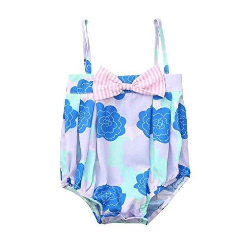 Sommer Outfits Baby Pwtchenty 2019 Strampler Overall Kleidung Bogen Gedruckt Jumpsuit Baby Mädchen Set Strampelanzug Bodysuit