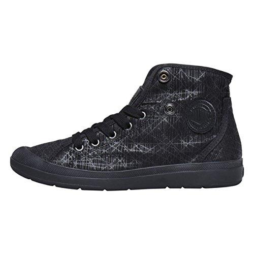 Palladium Aventure F, Sneaker a Collo Alto Donna, Nero Nero (Black/black/spider Print)