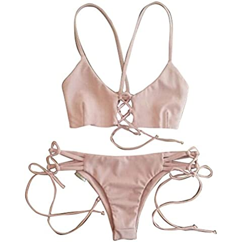 Moollyfox Halter Con Encanto Traje De Baño Bikini Brasileño De Mujer Bikini Tanga Swimsuit Push Up Beachwear Bañadores Mujer S