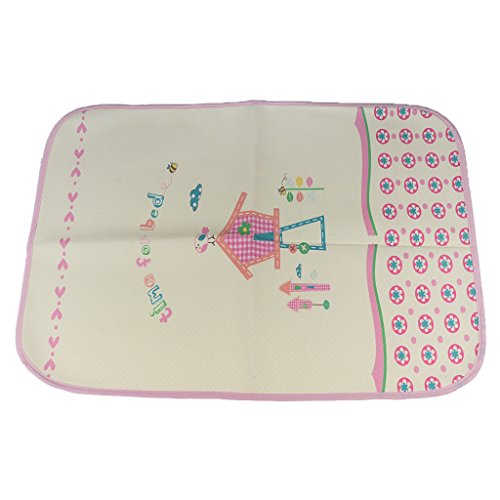 MagiDeal Baby tragbare wasserdichte Wickeltischauflage Wickelunterlage Wickelauflage Babybett Matte - Giraffe, 100x56cm