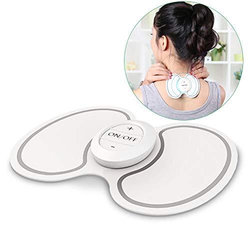 ANKIKI USB Electric Massage-Aufkleber Schulter-Nackenmassagegerät Muskelentspannung Massage Pad zum Gebärmutterhals Hals Schulter Taille -