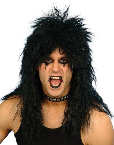 Männer Kostüm Rockstar - Smiffys Hardrocker-Perücke- schwarz