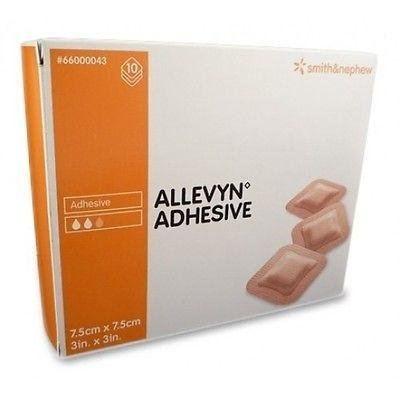 ALLEVYN selbstklebend Kompressen, 7,5cm x 7,5cm x 10-bei Wunden, Geschwüre, für Diabetiker -