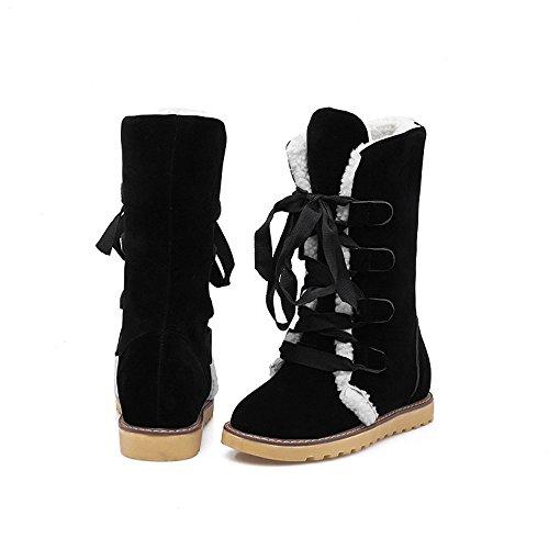 Ankle Boots Damen,Mosstars Winterstiefel Womens Low Wedge Biker Knöchelriemen Flache Stiefeletten Lederstiefel Schlupfstiefel Schneestiefel Plateauschuhe