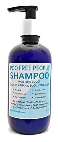 100% NATÜRLICHES SHAMPOO - Mit RIZINÖL, ARGANÖL & EUKALYPTUS - 250ml - POO FREE - Keine SLS, keine Parabene, keine Chemikalien. Niedriger Schaum, einfache Spülungsformel. - Omega Eukalyptus