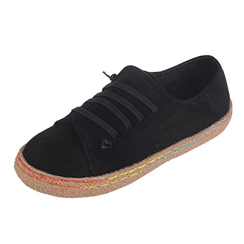 Chaussures Femme Pas Cher,GongzhuMM Ete Dames Femmes Creux Chaussures Plate-Forme Bout Rond Talon Plat Glisser sur des Chaussures de Sport