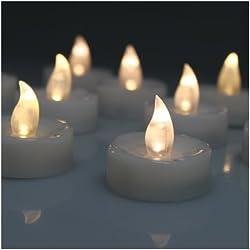 60 Velas LED sin Fuego Blanca Cálida Luz