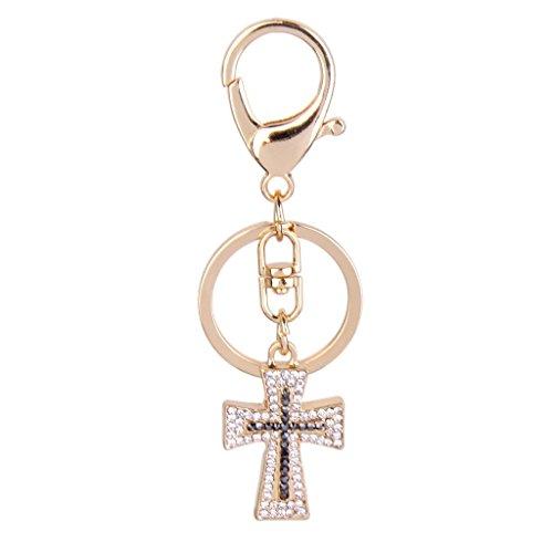 MagiDeal Kristall Christliches Kreuz Charme Schlüssel Kreuz Charme