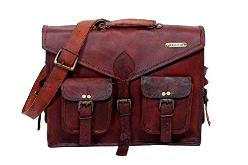 Urbankrafted Schöne handgemachte Männer Distressed Leder Messenger Laptop-Tasche Schultertasche (Messenger Leder Laptop Distressed)