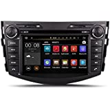 17,8cm-INDASH Android Auto DVD Player mit GPS Navigation TV/BT 3G WiFi, Touchscreen, USB/SD AUX, Audio Radio Stereo, Auto, PC/Multimedia Haupteinheit für Toyota RAV42006200720082009201020112012