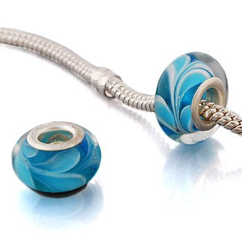 Andante-Stones 925 Sterling Silber Murano Glas Bead Charm