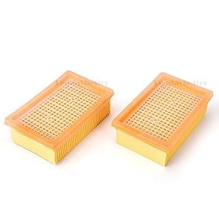 Leadaybetter 2Stück MV4/MV5/MV6/WD4/WD5/WD6 Flachfaltenfilter Kompatibel für Kärcher WD4Premium/WD5P/WD5 Premium /WD5 Premium/WD6 P staubsaugerfilter Ersatz Flachfaltenfilter zu Kärcher 2.863-005.0