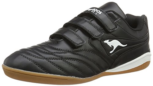kangaroos-herren-k-yard-3021-b-v-low-top-schwarz-black-white-45-eu