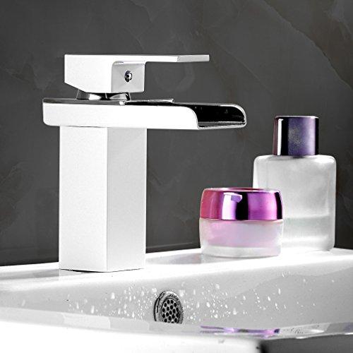 auralum-el-grifo-de-la-lavabo-grifos-de-bao-con-pintura-blanca-cascada