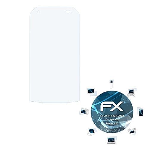 atFolix Schutzfolie kompatibel mit Kyocera Torque G03 Folie, ultraklare FX Bildschirmschutzfolie (3X)