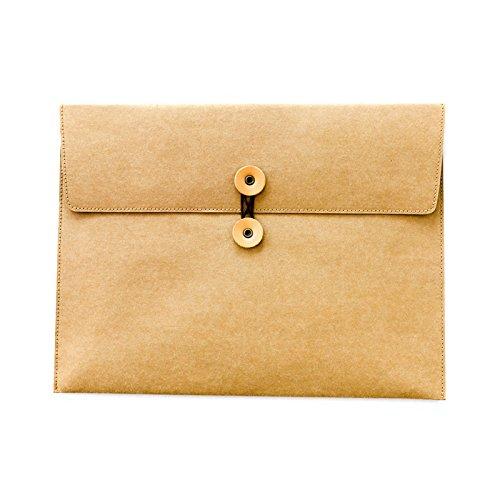 A4waschbar Kraft Dokument Papier Datei Ordner Business Aktentasche Tasche -