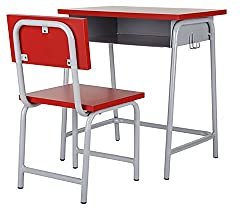 Metro Table and Chair Set (Glossy Finish, Red)