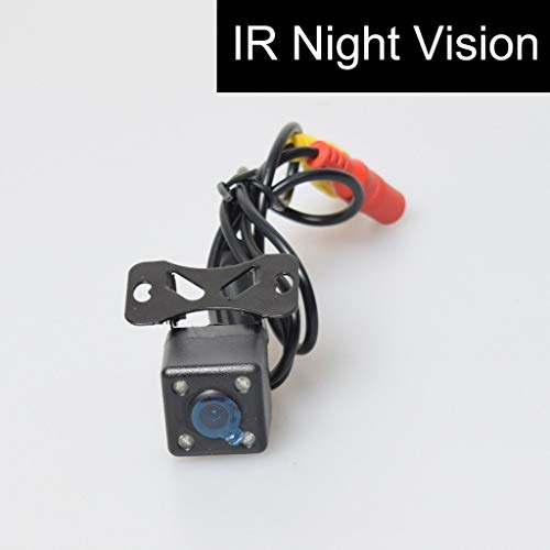 Cocar Coche Automotive Vista Trasera de reserva Cámara 4 Infrarrojos Nocturna Visión IR Luces Libres 6M / 20FT RCA Vídeo Extensión Cable Automático