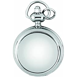 A.E. Williams Ladies' Quartz Full-Hunter Pendant Watch, 1224, Chrome-Finished Mini with 28 Inch Chain (Suitable for Engraving)