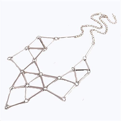 ColorYan Damen Halskette, Einfache Mode Metall aushöhlen geometrische Patchwork anhänger Halskette bib Choker Kragen Damen Frauen schmuck Geschenk Schmuck Frauen Mädchen -
