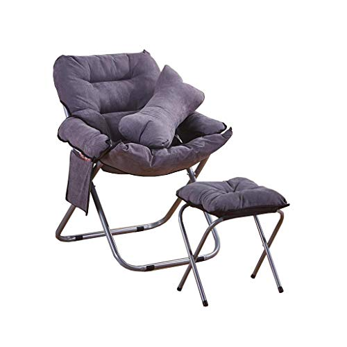 HBWJSH Klappstuhl Computer Stuhl Sonnenliege faulen Stuhl Freizeit Nickerchen Hause einfache Kissen...