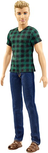 Barbie Mattel Ken Doll - Fashionistas - Green Blouse and Denim Pants (Dwk45) -