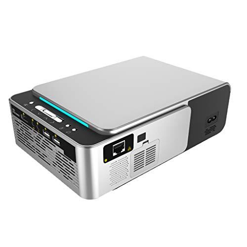 Baoblaze EU Netzteil Videoprojektor Mit AV Signalkabel 720p, Unterstützt USB VGA AV TV für TV PC DVD