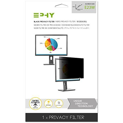 EPHY Privacy Filter / Anti-Glare / Screen Protector for Laptop TFT Monitor Desktop PC LCD LED Screen - Compatible with Apple iMac Macbook DELL SAMSUNG ACER V7 3M IBM LENOVO HP COMPAQ AOC ACER ASUS SHARP LG NEC (23